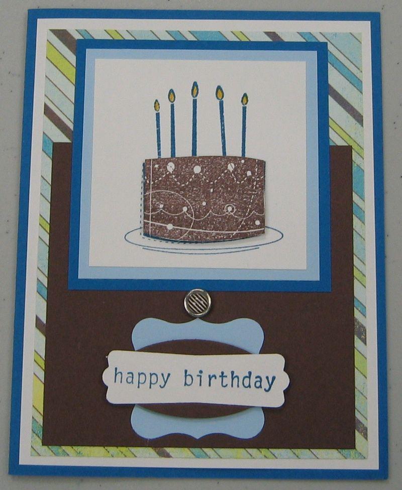 Peggy - Birthday cake card