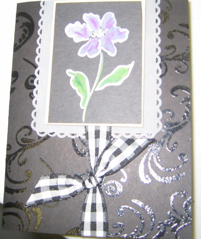 Linda - White Embossed Pencils Flower