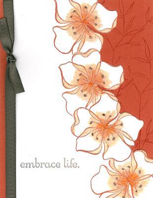Embrace Life flower border - vertical