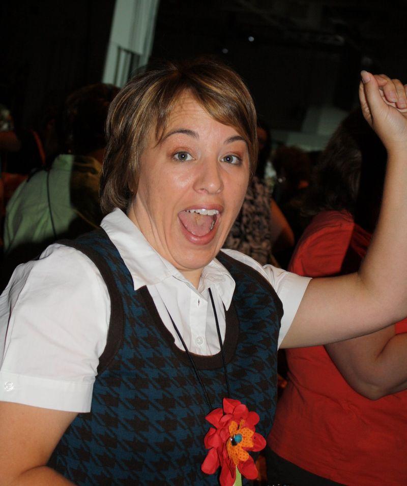 Angie cheering rah rah