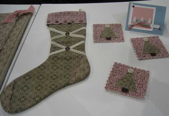 Fabric - stocking and coasters