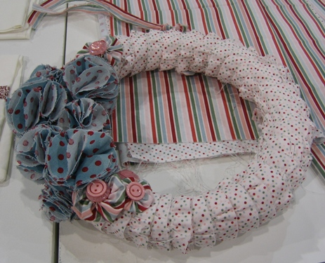 Fabric - candy cane wreath