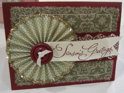 Fabric - season's greetings card