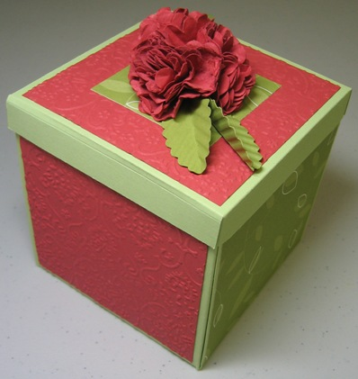 Flower box scallop carnation - peggy