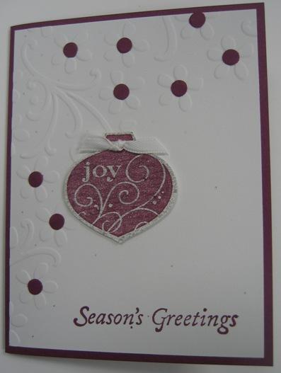 STamp Club sept 2010 - peggy ornament card