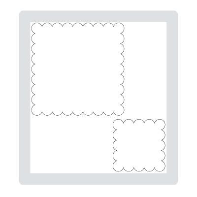 Scallop squares duo 120903L
