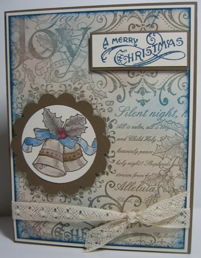 Christmas Collage - blue