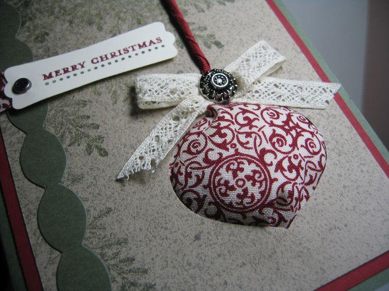Poofy ornament - closeup