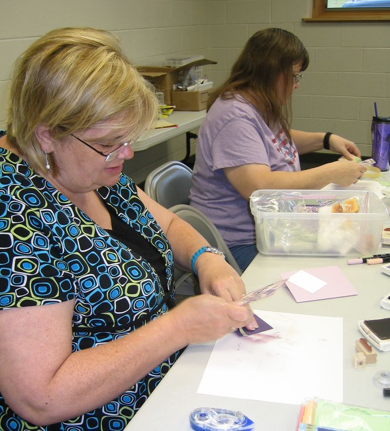 Stamp Club June 2010 - linda cox & deb pott