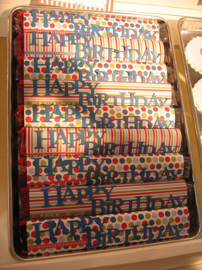 Happy birthday double candy bars
