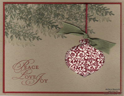 Poofy ornament - michelle reynolds