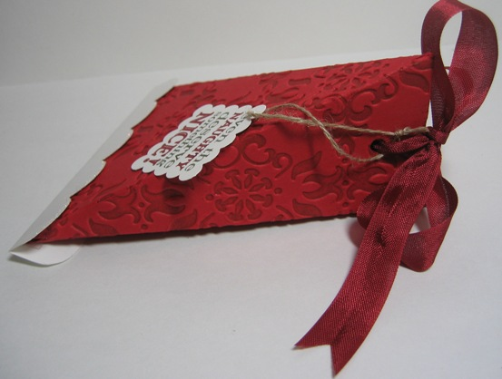 Santa hat triangle box 2