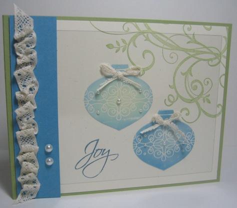 Acetate ornaments pearls