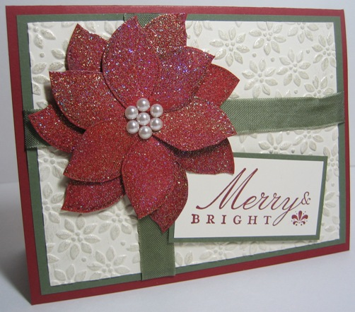 Poinsettia cards iridescent cham shimmer 2a