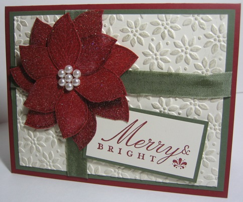 Poinsettia cards iridescent cham shimmer 2