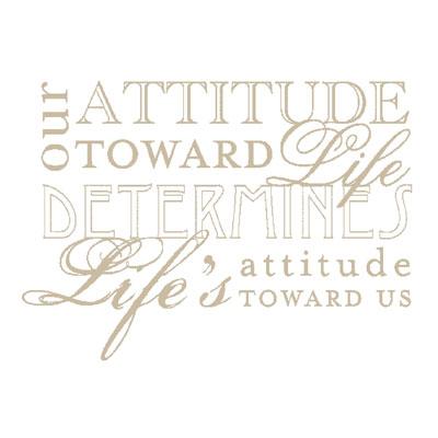 Attitude toward life 119441L
