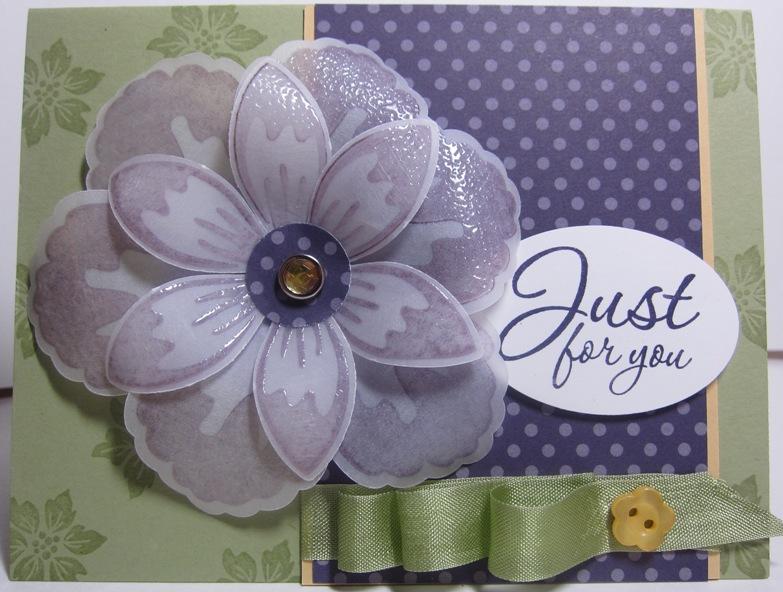 Build A Blossom Vellum purple card