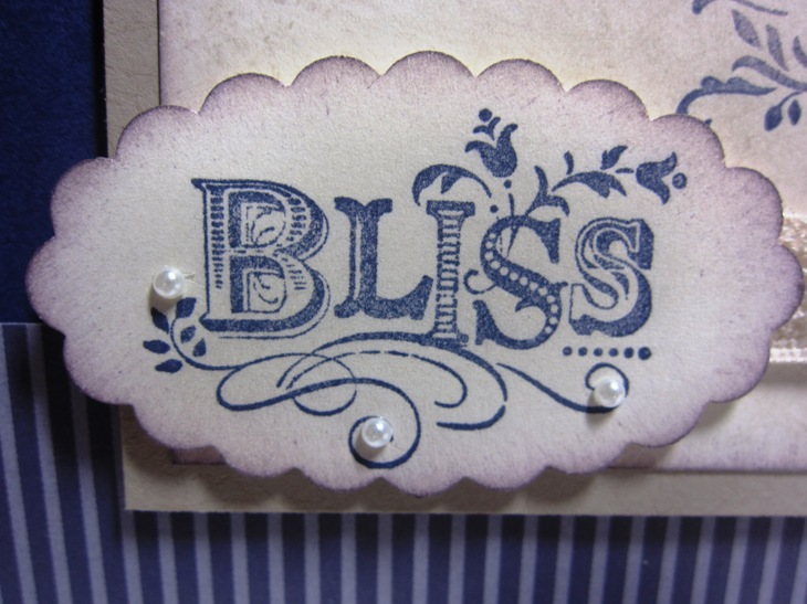 Concord Bliss card - pearls bliss