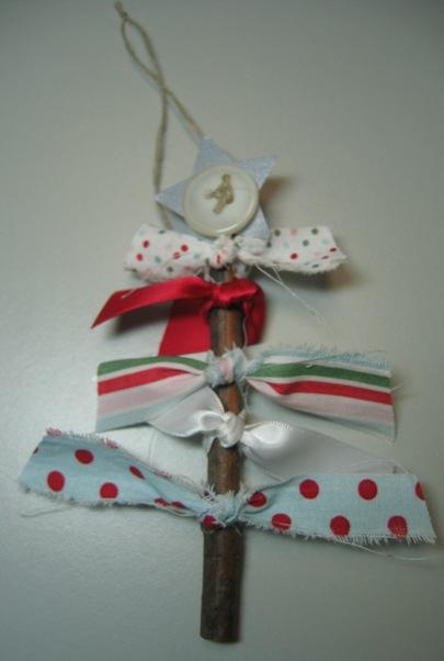 Darla - fabric tree ornament
