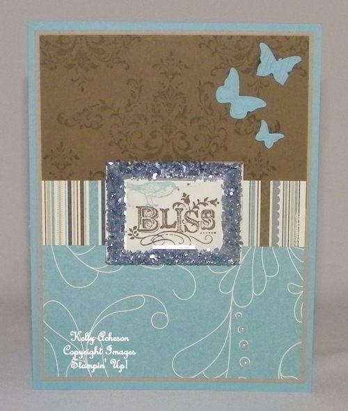 Kelly's glitter card