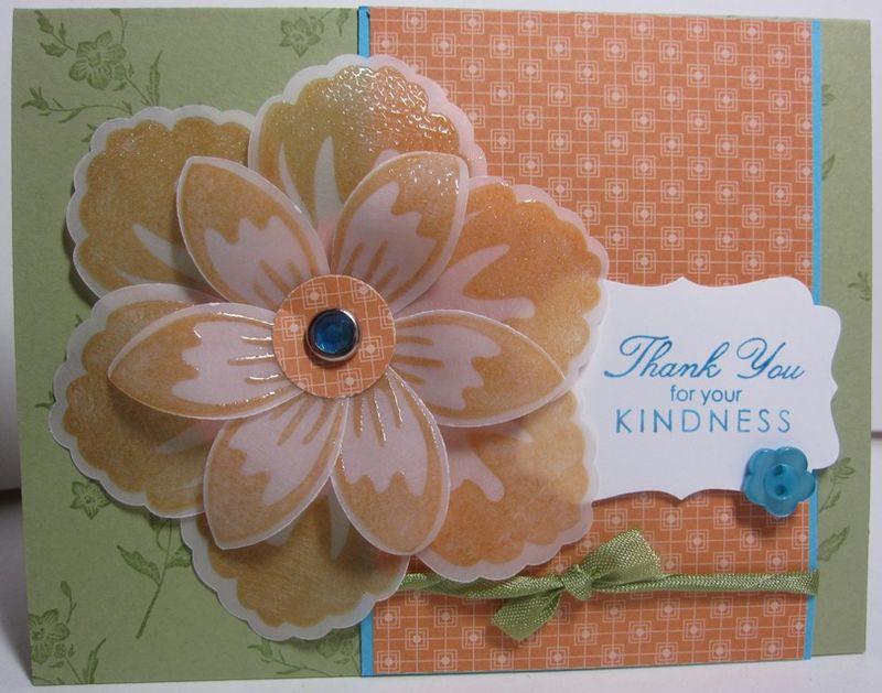 Build A Blossom Vellum peach card - closeup