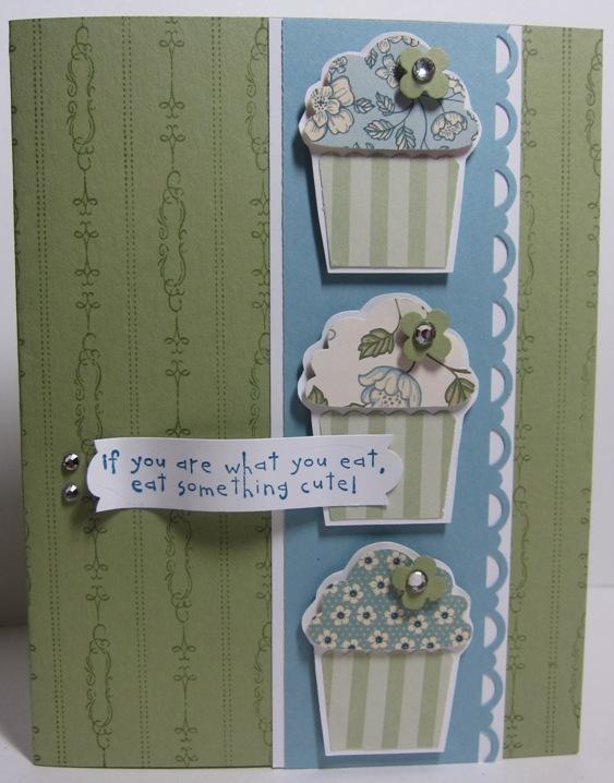 Springtime vintage cupcakes v