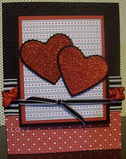 Demo - michelle Red Glimmer Hearts
