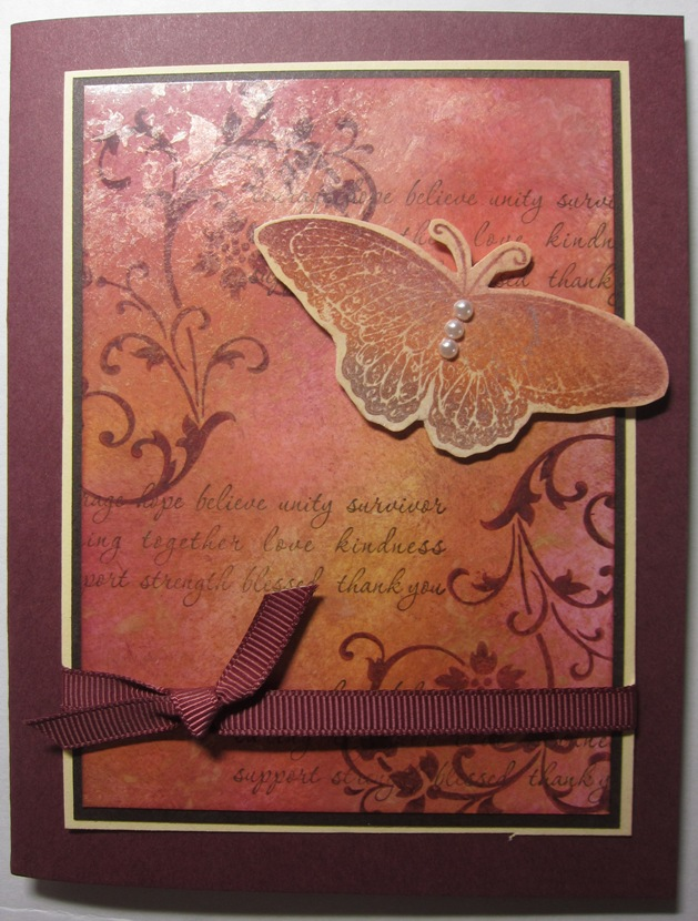 Mother of pearl card - vertical