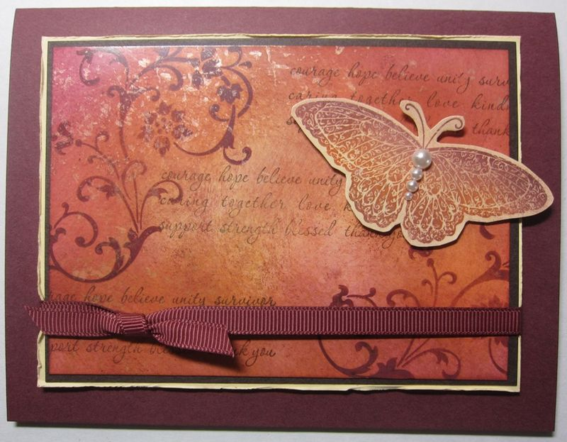 Mother of pearl card - horizontal