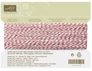 Bakers twine cherry 123125L