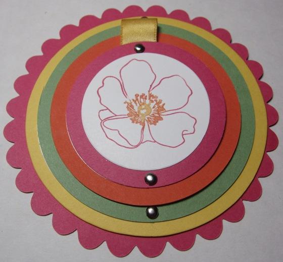 Telescoping circle card - full