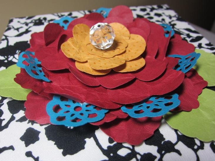Card box flower
