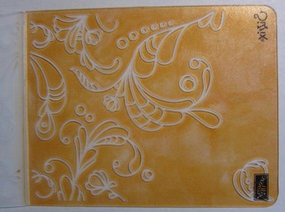 Inked impressions  - orange folder