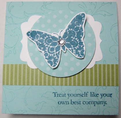 Creative elements - tilted butterfly