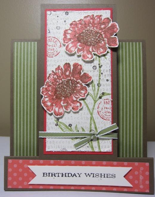 Field flowers panel birthday