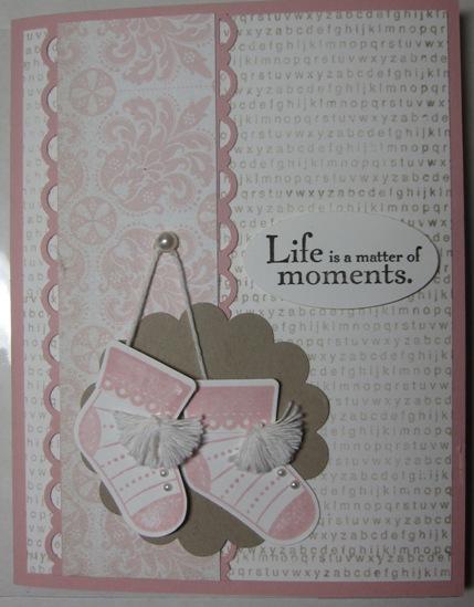 Stocking booties pink