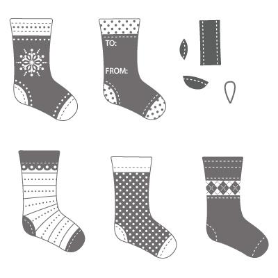 Stitched stockings 123784L