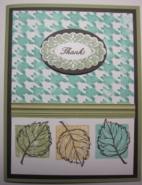 Gently falling block stamping v