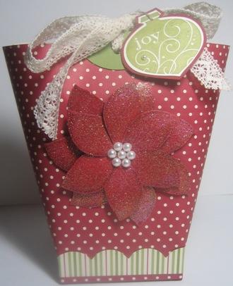 Poinsettia box in a bag