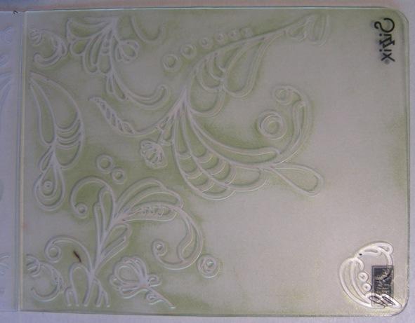 Inked impressions - green folder