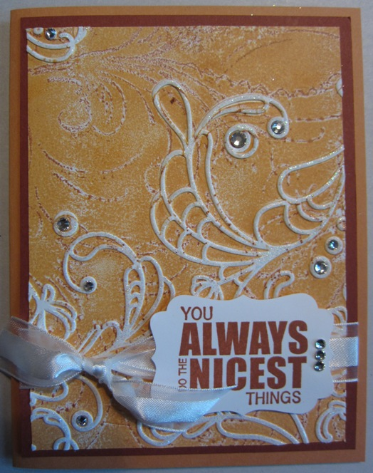Inked impressions  - orange card
