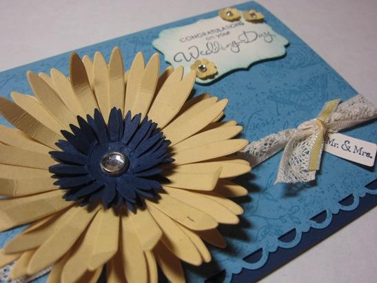 Wedding card closeup