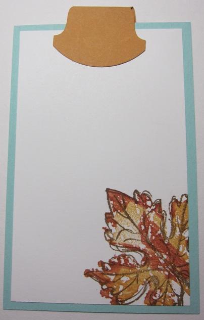 Gently falling treat card inside