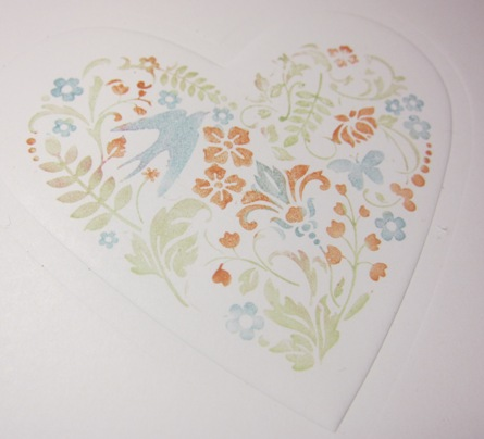 Heart embossing - you are loved 2