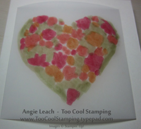 Stained glass - colored heart 2