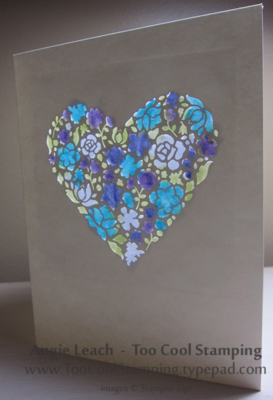 Stained glass - colored heart window blue