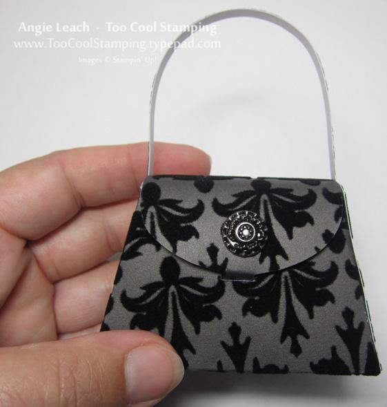 Purse - black velvet size reference