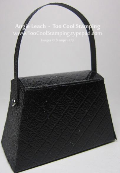 Purse - black patent leather back