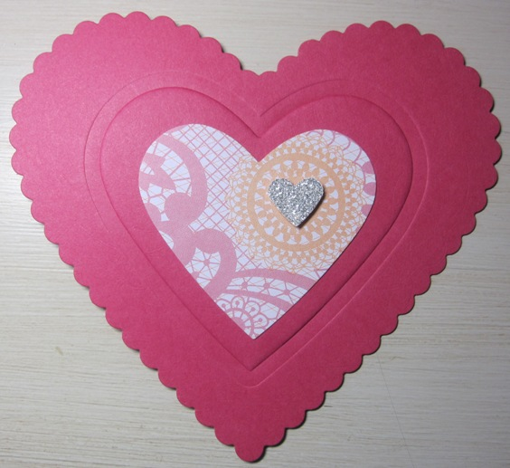 Heart embossing - front