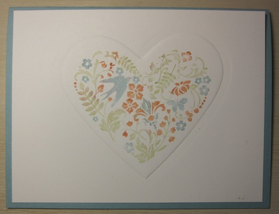 Heart embossing - you are loved